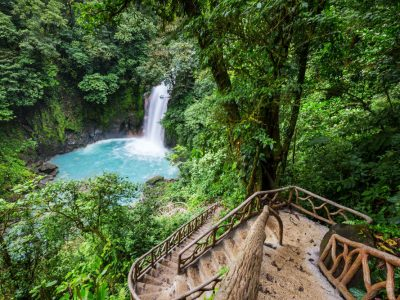 Adventure to a Central American waterfall