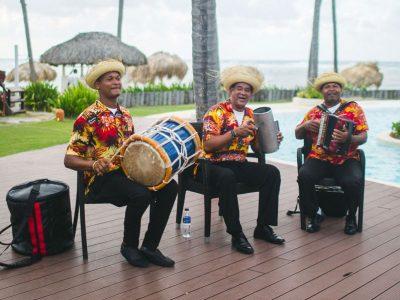 men playing steel drums